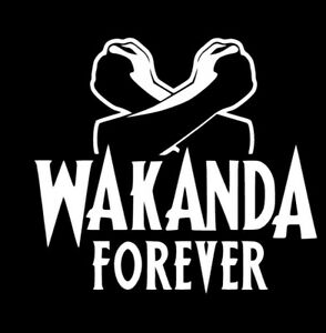 Black Panther Wakanda Marvel 5quot;x5quot; White Decal Sticker