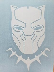Black Panther Wakanda Marvel 3quot;x2quot; White Decal Sticker
