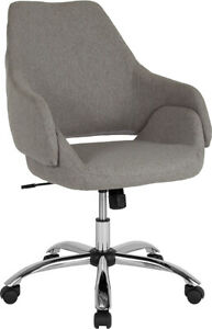 Flash Furniture Chrome And Metal Chair In Light Gray Fabric CH 177280 LGY F GG