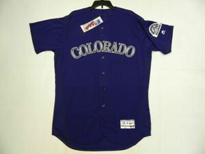 AUTHENTIC 44 LARGE COLORADO ROCKIES MAJESTIC FLEX BASE JERSEY MADE IN THE USA $111.26