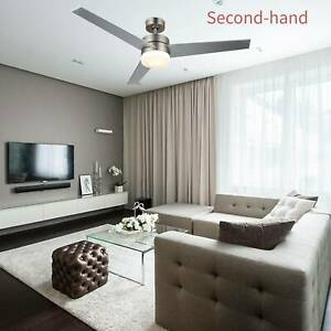 """Secondhand 52""""Ceiling Fan Light w 18W LED Light amp; Remote Control"""