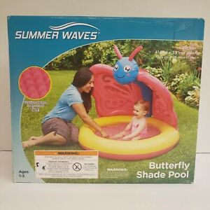 Summer Waves Inflatable Butterfly Shade Baby Pool $19.99