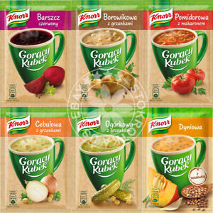 KNORR Instant CUP SOUP Goracy Kubek Pick your Flavor US Seller Quick Shipping $9.93