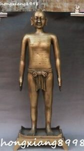 21quot; Collection China Bronze People Human Body Acupuncture Acupoint Figure Statue $799.00