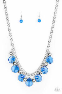 Paparazzi Gossip Glam Blue Necklace
