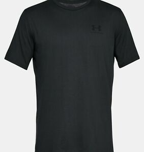 Under Armour Men#x27;s Sportstyle Heat Gear Shirt Loose Fit Short Sleeve Black NEW $14.20