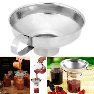 Mason Jar Stainless Steel Kitchen Canning Funnel for Wide Mouth amp; Regular Jars