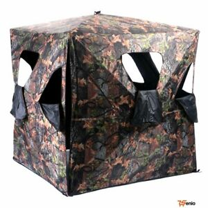 Ground Hunting Blind Portable Deer Pop Up Camo Hunter Mesh Weather Proof Rsenio