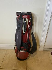 PING 4 Under Golf Stand Carry Bag Red White 4 Way Divider With Rain Hood $79.99