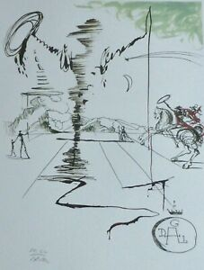 SALVADOR DALI Don Quichotte HAND NUMBERED PLATE SIGNED LITHOGRAPH Don Quixote $225.00