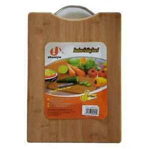 """The KitcheNet Large Bamboo Cutting Board with Aluminum Handle 15"""" x 11"""""""