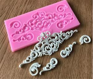 Flower Cake Lace Mold Silicone Sugar Craft Fondant Mat Baking Decor Tools LB