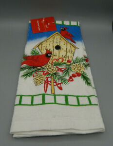 Holiday Style 15quot; x 25quot; Kitchen Towel Cardinal