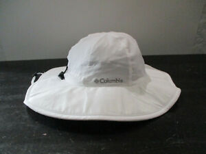 Columbia Hat Cap Bucket Hat White Gray Adult One Size Outdoors Camp Mens