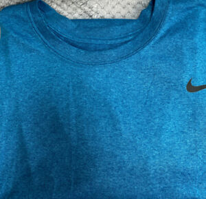 Nike Mens Dry Fit Shirt Royal Blue Size L $18.10