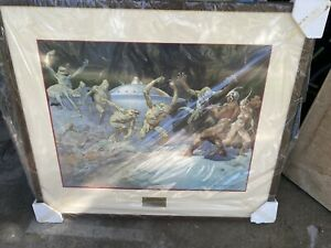 Frank Frazetta Leaping Lizards Signed And Numbered Lithograph Print #70 500 $500.00