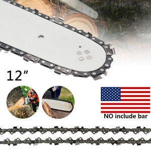 12quot; Chainsaw Saw Chain Blade 3 8quot; LP .043 Gauge 44DL Replacement No Guide Bar $8.45
