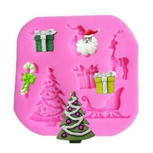 Christmas Fondant Mold Silicone Sugar Cake Mould Chocolate Decorating Tools DIY