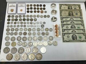 Estate Sale Coins Auction Lot Silver amp; Gold Bullion Currency Collection $57.89