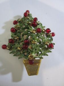 ORIGINAL BY ROBERT ENAMEL CHRISTMAS TREE WITH RED GLASS BALLS $49.99
