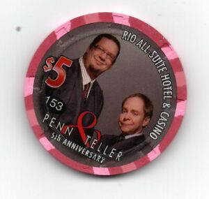 rio penn and teller chip #365 not chip in pic