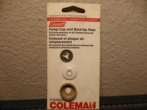 Vintage camping Coleman Pump Cup and Back Up Plate 216A5091 backpacking hiking