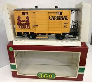 LGB TRAINS CARDINAL BEER BOX CAR #4034 EXCELLENT IN BOX FREE SHIPPING