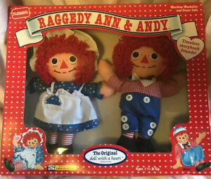 Vintage Playskool Raggedy Ann amp; Andy Original Doll With A Heart Friends 1992 New $25.00