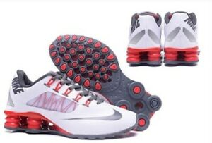 HOT NEW Womens Red Gray White NIKE Shox Athletic Running Shoes $119.99