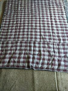 78quot; x 32quot; Vintage Sleeping Bag w Plaid Flannel Interior Camping COLEMAN ??