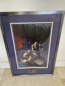 Frank Frazetta Man The Endangered Species Signed Numbered Lithograph #382 500 $349.00