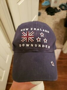 New Zealand Down Under Mens Baseball Cap Hat Blue Kiwi Snapback $19.99