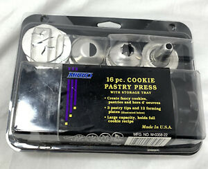 Mirro 16 Pc Cookie Pastry Press Instructions amp; Packaging Vintage DEFECT SEE $11.19