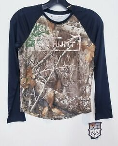 Boys Under Armour Long Sleeve Camouflage Shirt Youth Large $12.94