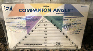 EZ Quilting Companion Angle Quilting Tool Acrylic Quilt Template Triangles $9.99
