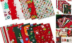 12 Pieces Christmas Cotton Fabric Bundles 16 x 20 Inch Sewing Square Fabric Patc $20.67