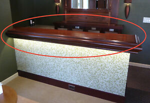 Salvaged vintage bar counter top solid wood $80.00
