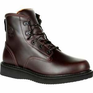 Georgia Boots GB00361 Soft Toe Slip Resistant Boot Men#x27;s Size 10.5W Brown