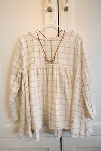 Rylee amp; Cru Girls Cream Blouse Size 8 9 amp; Necklace Combo