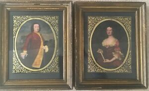 2 Antique Portraits Colonial Lordamp; Lady Mr William Nelson amp; Mrs Peyton Randolph $390.00