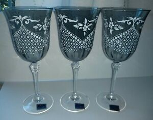 Le Stelle Cristal Design Made In Italy 3 Set Glasses