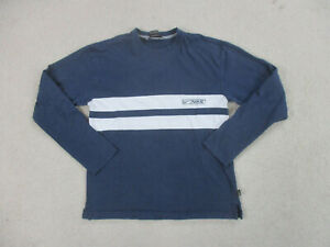 VINTAGE Nike Shirt Adult Medium Blue White Swoosh Spell Out Long Sleeve 90s A37* $18.88