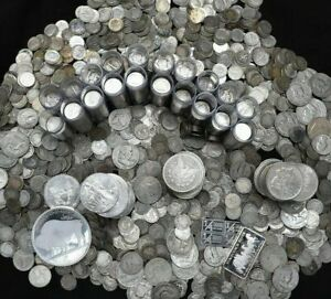 SILVER COINS OLD COLLECTION SILVER DOLLAR BULLION US 90% ESTATE LOT $69.25