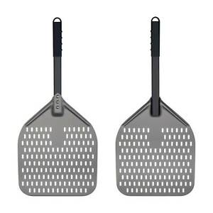 Perforated Pizza Peel 12 x 14 Inch Pizza Turning Peel Anodized Aluminum Paddle