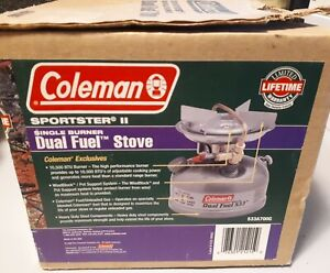 NEW Coleman Camping Stove Sportster II Dual Fuel 533 Backpacking Stove 1 Burner