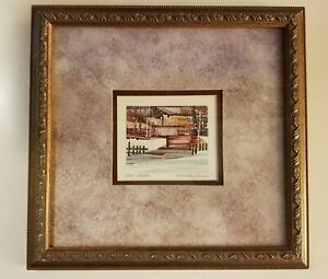 FRED RAWLINSON Framed Original Watercolor quot;BAYOU VILLAGEquot; New Orleans 13.5 x 13 $26.99