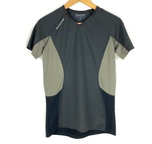 Mammut Alpine Base Under Women Black Gray Short Sleeve T Shirt Size Medium $19.99