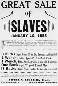 NEGROES FOR HIRE SOLD SLAVE AUCTION POSTER 8X10 PHOTO CIVIL WAR RIGHTS LINCOLN $7.49