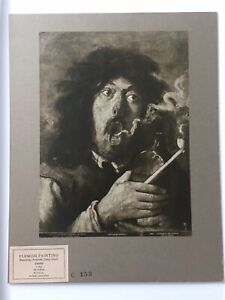 Antique Vintage Lithograph Print Of Adriaen Brouwer's Smoker $32.39