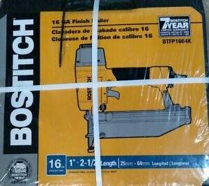 Bostitch 16 gauge Finish Nailer Straight Nail 1quot; 2.5quot; NEW BTFP1664K $97.69